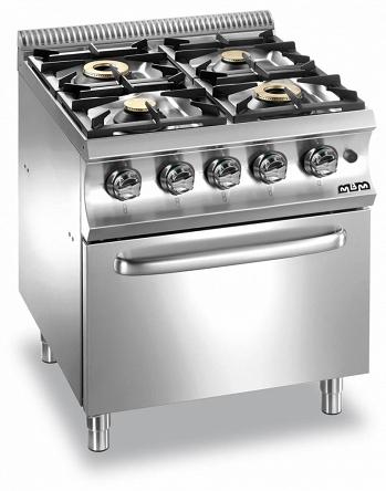Kuchnia Gazowa 4 Palnikowa Z Piekarnikiem Elektrycznym Gn 1 1 2x6